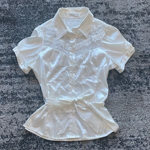Forever 21 Lace Button up Top